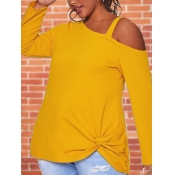 lovely Sweet Hollow-out Knot Design Yellow Plus Si