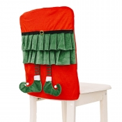 lovely Christmas Day Cartoon Red Chair Cover