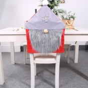 lovely Christmas Day Patchwork Grey Chair Cover