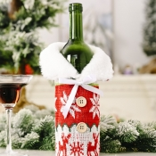 lovely Christmas Day Print Patchwork Red Decorativ