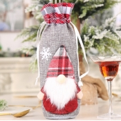 lovely Christmas Day Cartoon Print Grey Wine Bag