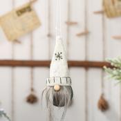 lovely Christmas Day Cartoon White Ornament
