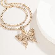 lovely Stylish Butterfly Gold Bracelet
