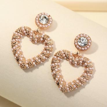 Lovely Chic Heart Gold Earring