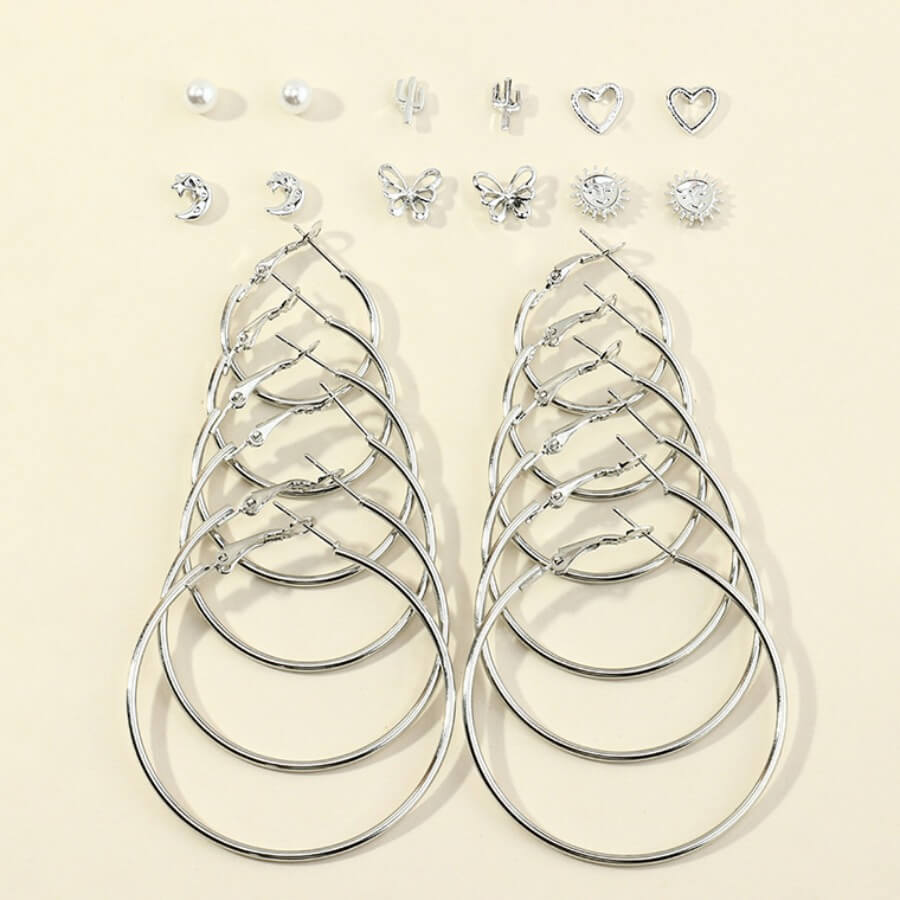Lovely Stylish Hollow-out Silver Earring