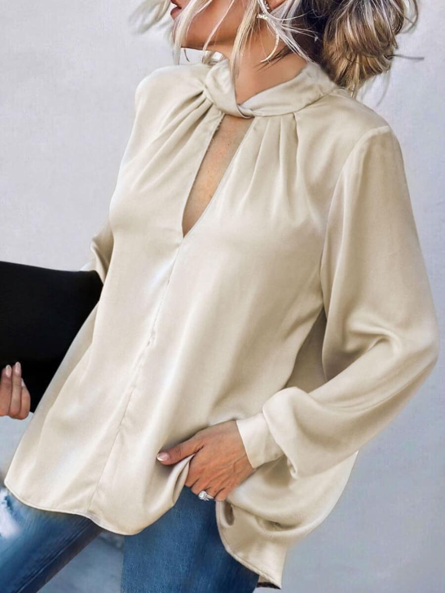 Lovely Formal Hollow-out Puffed Sleeve Apricot Blo