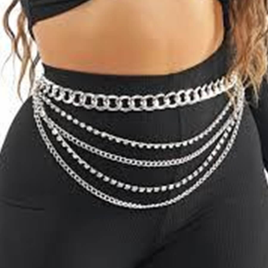 Lovely Stylish Hollow-out Silver Body Chain