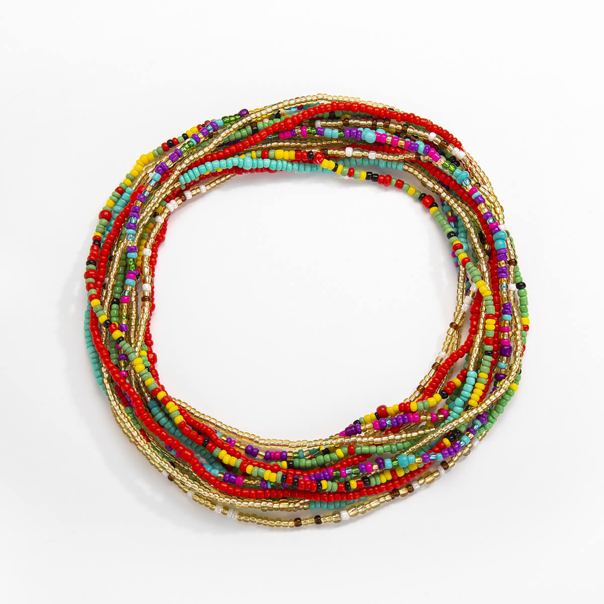 Lovely Ethnic Multilayer Multicolor Body Chain