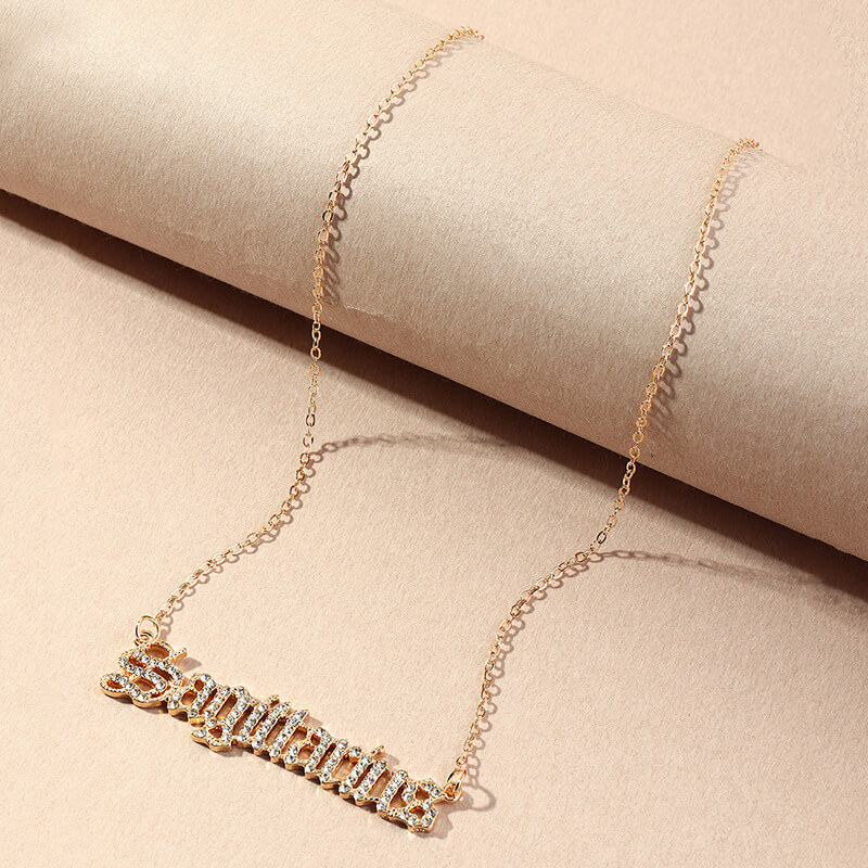Lovely Stylish Letter Gold Necklace