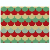 Lovely Geometric Print Patchwork Red Table Linens