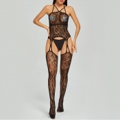 Lovely Sexy Lace See-through Black Bodystocking