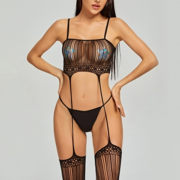 Lovely Sexy See-through Black Bodystocking