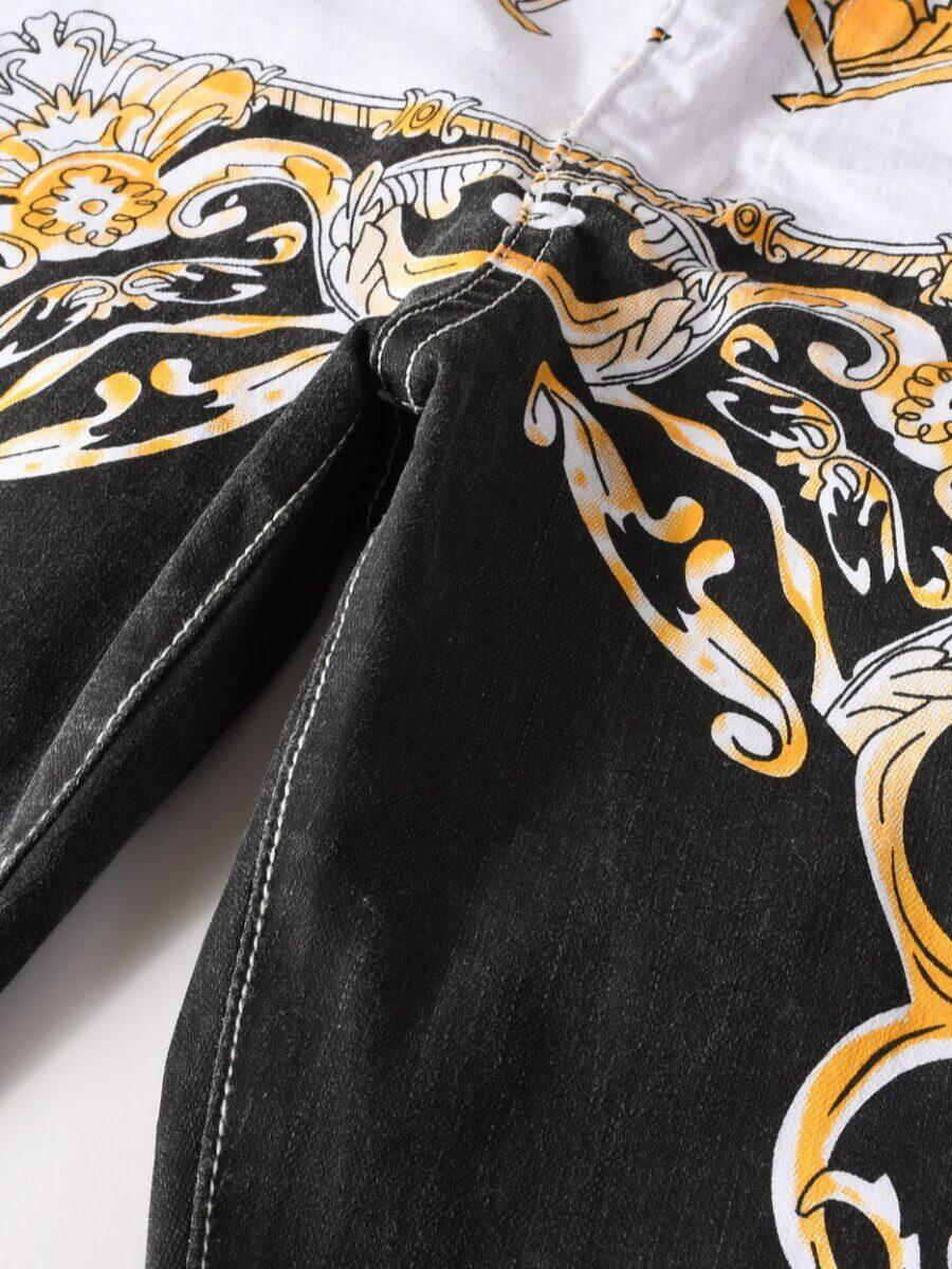 Lovely Trendy Mid Waist Print Patchwork White Men