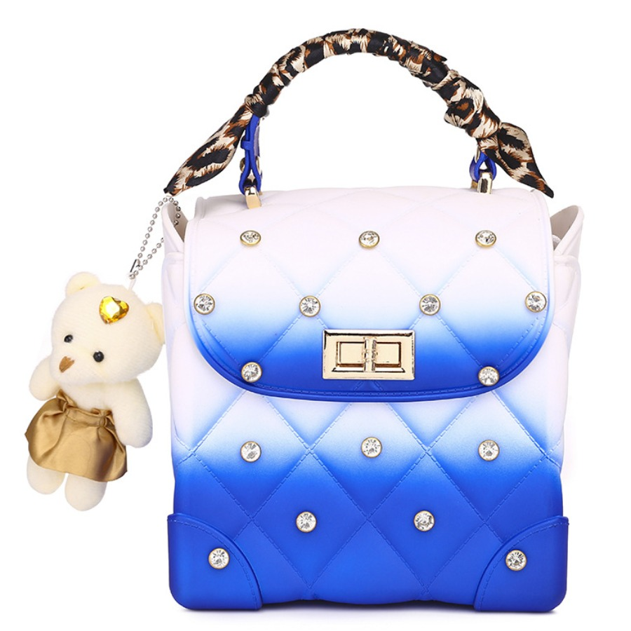 Lovely Casual Gradient Sequined Blue Crossbody Bag