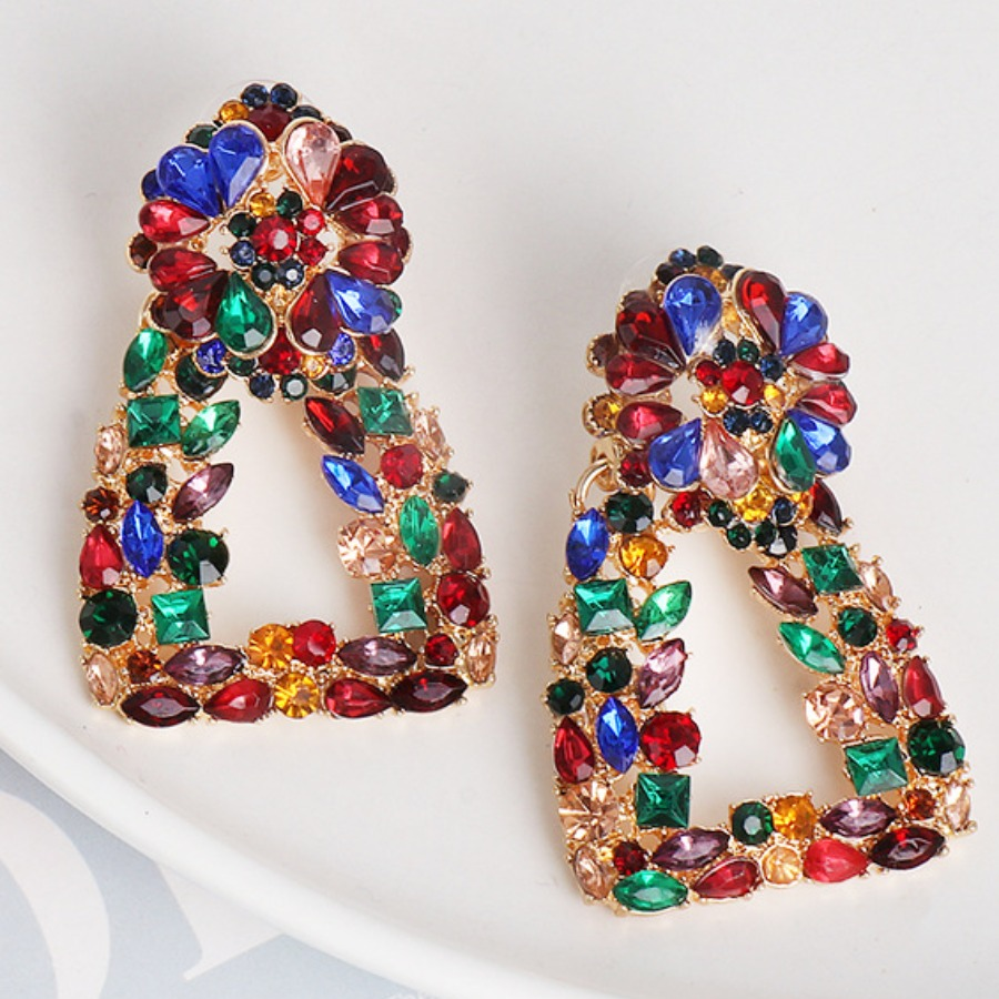 Lovely Casual Geometric Multicolor Earring, lovely  - buy with discount