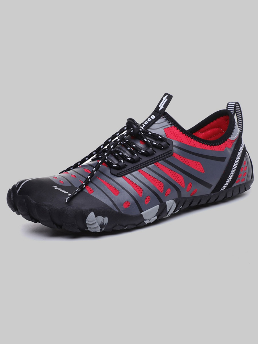 Lovely Men Sporty Striped Red Sneakers