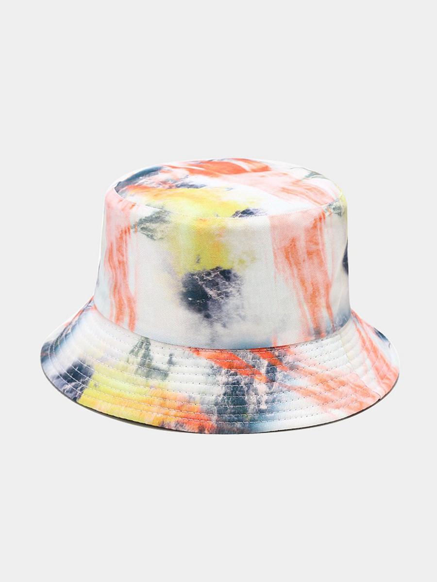 LW COTTON Casual Tie-dye Black Hat