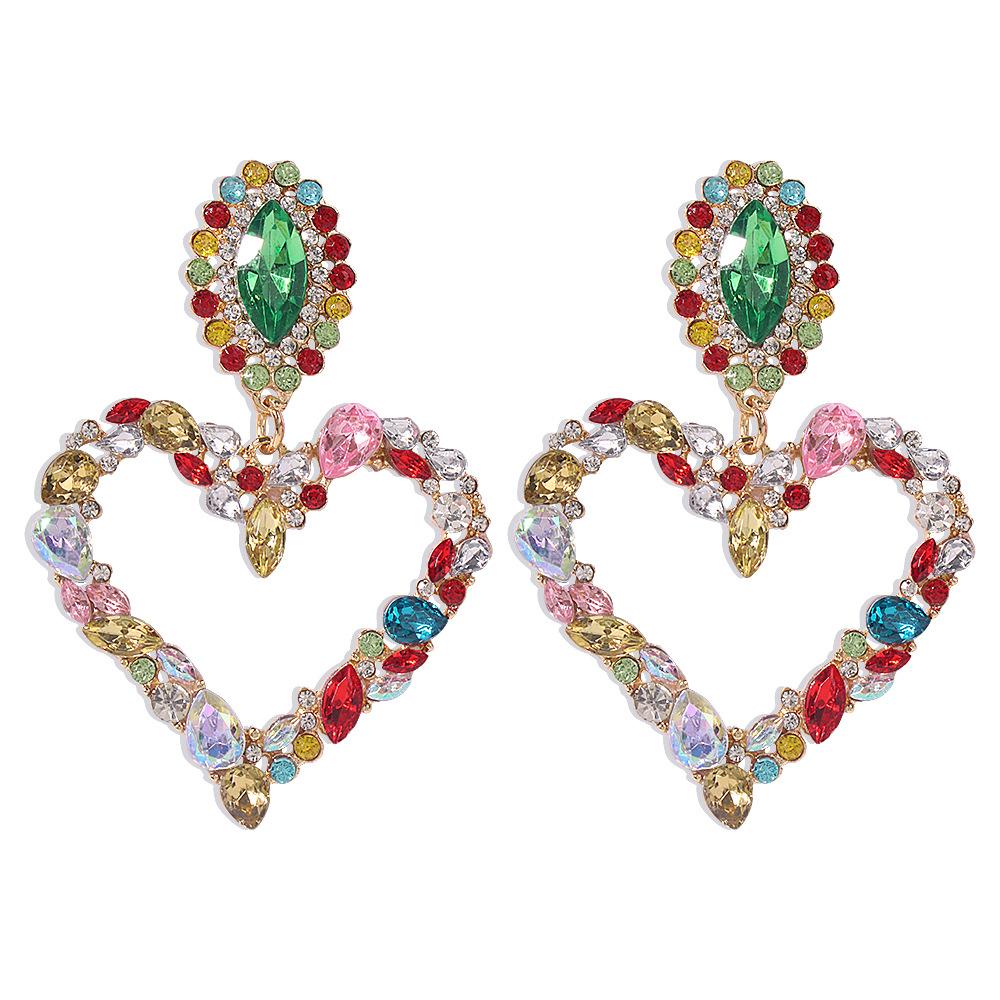 LW Street Heart-shaped Multicolor Earring
