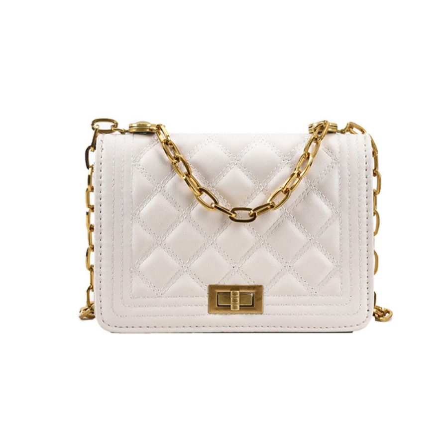 Lovely Casual Chain Strap White Messenger Bags