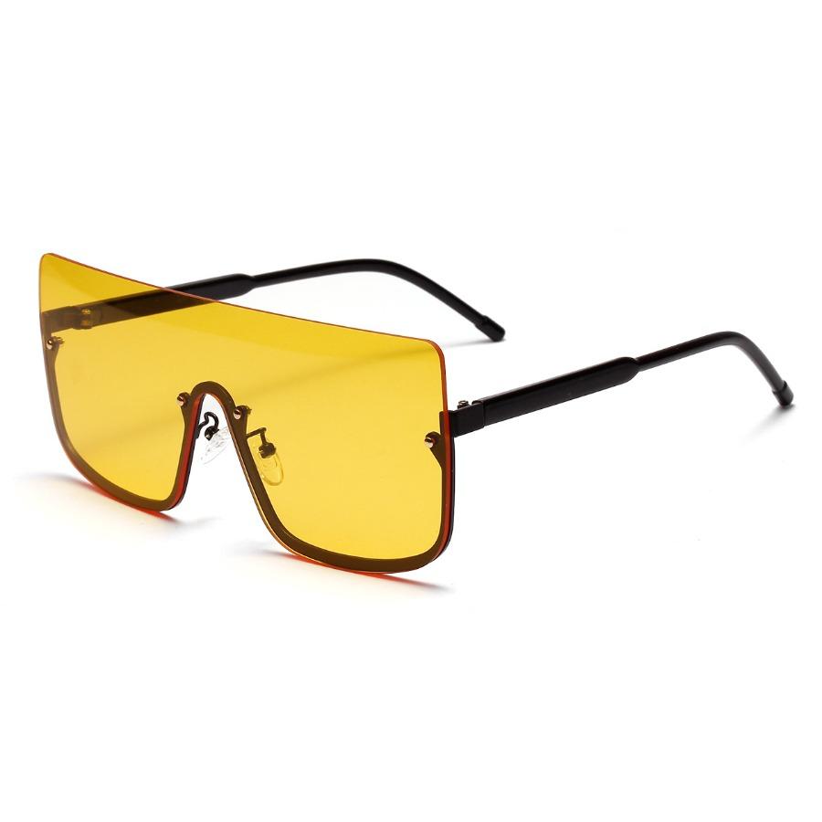LW Street Asymmetrical Frame Yellow Sunglasses