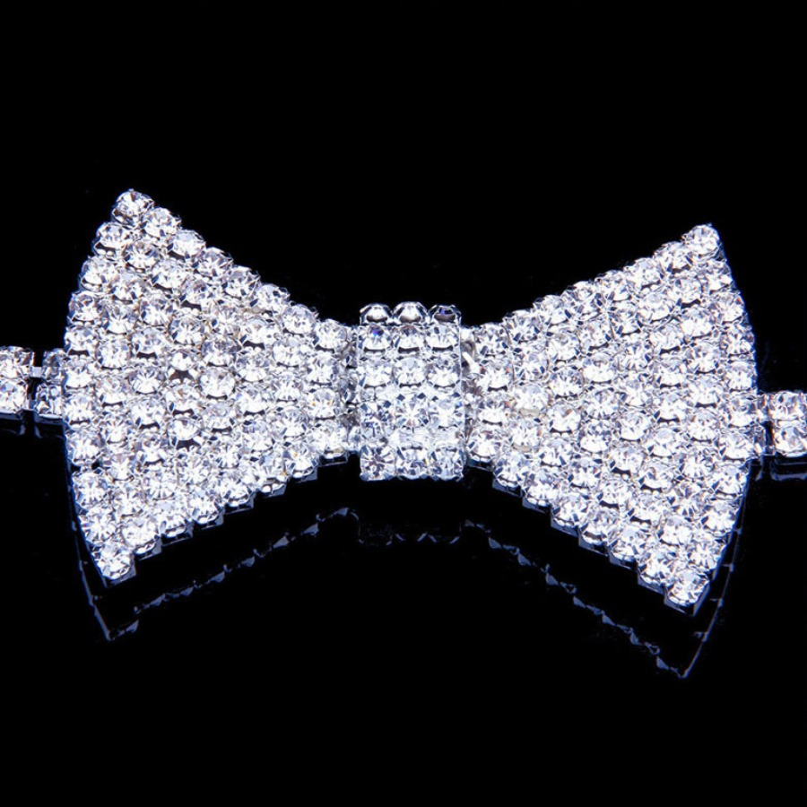 LW SXY Bow-tie Decoration Silver Necklace