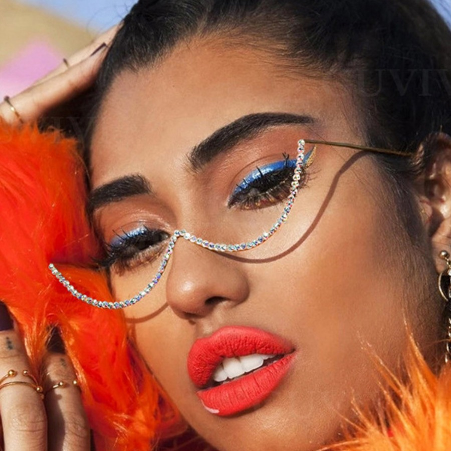 Lovely Sexy Asymmetrical Silver Eye Frame, lovely, Sunglasses  - buy with discount