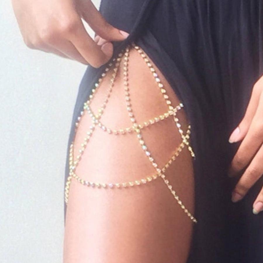 LW SXY Crystal Gold Body Chain