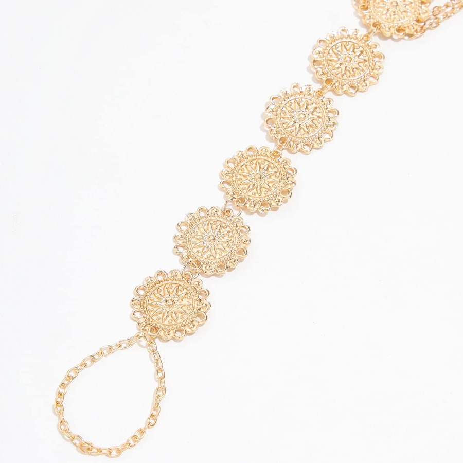 LW Boho Floral Disc Gold Body Chain