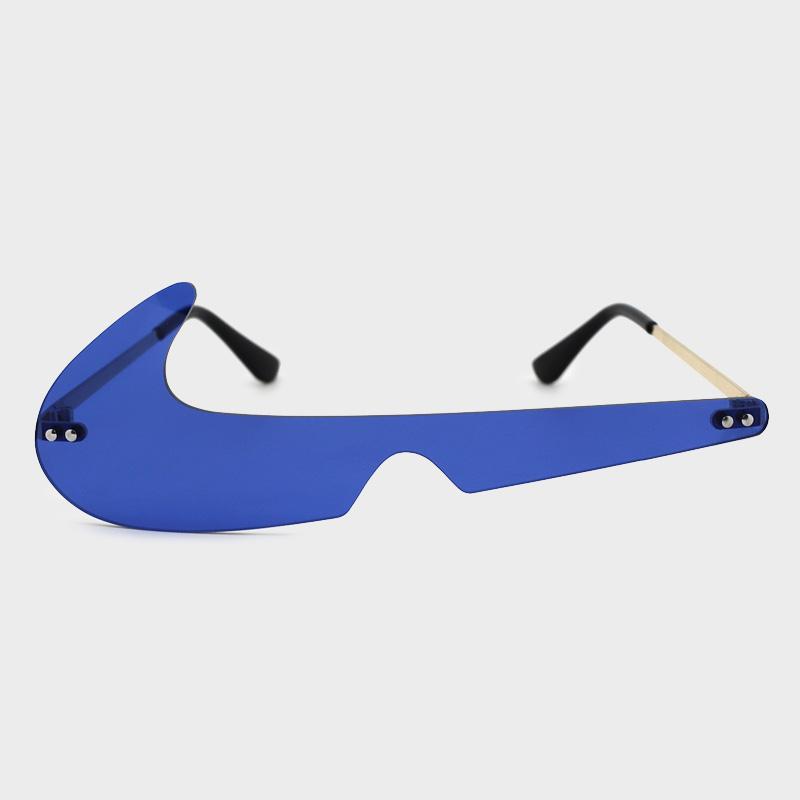 Lovely Street Asymmetrical Blue Sunglasses