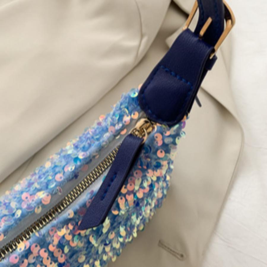 Lovely Casual Sequined Blue Shoulder Bag