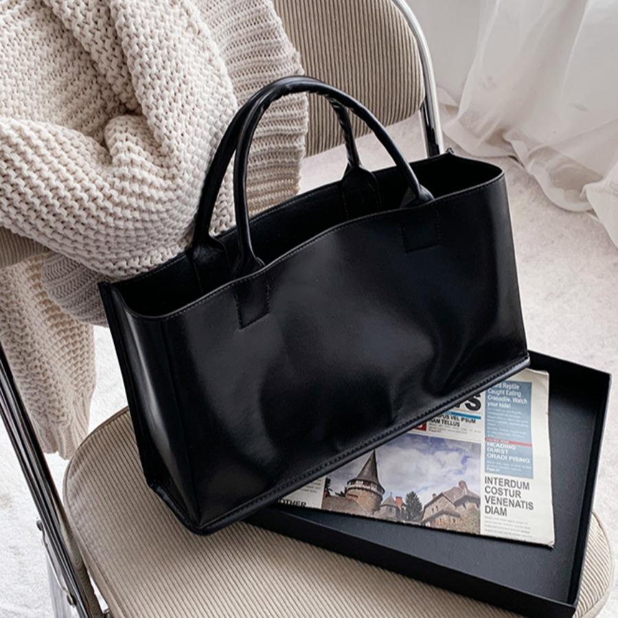 LW Casual Rectangular Black Messenger Bag