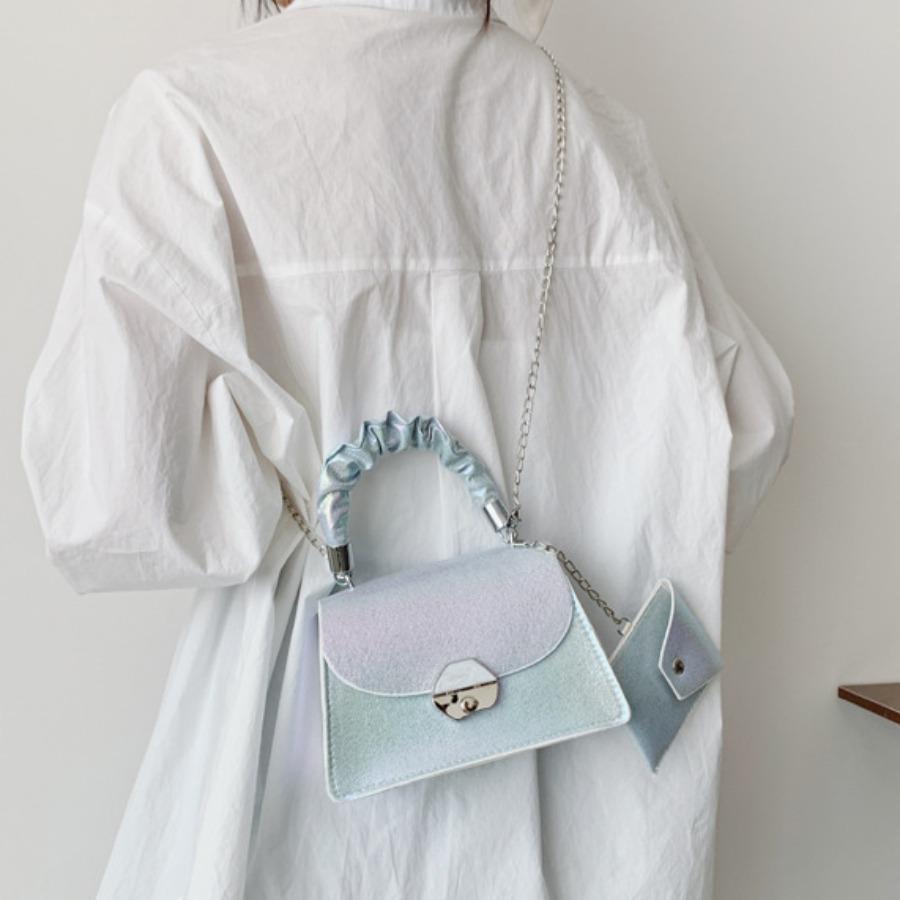 LW Street Gradient Fold Handle Blue Messenger Bag