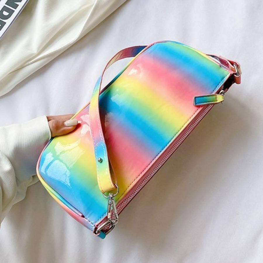 Lovely Casual Gradient Rectangular Shoulder Bag