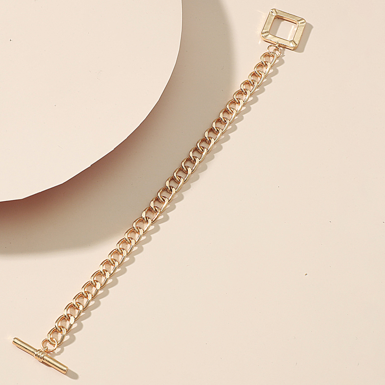 Lovely Casual Square Decoration Gold Bracelet