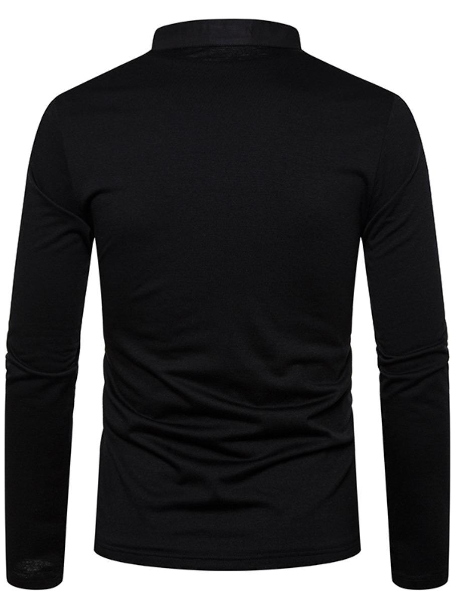 LW COTTON Men  Material Series Button Design T-shirt