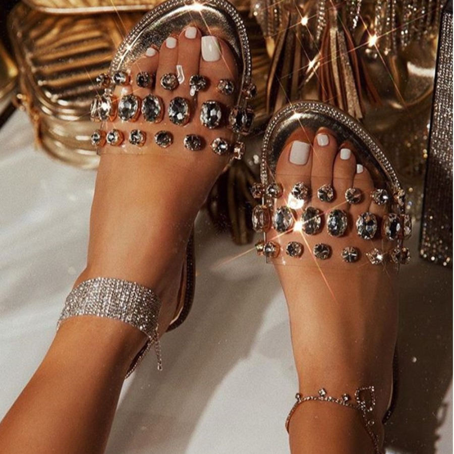 LW SXY Crystal Cylindrical Anklet