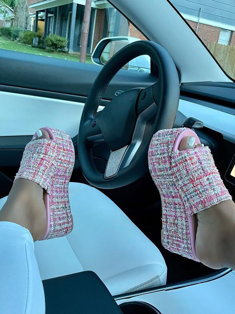 LW High Sole Round-toe Platform Shoes