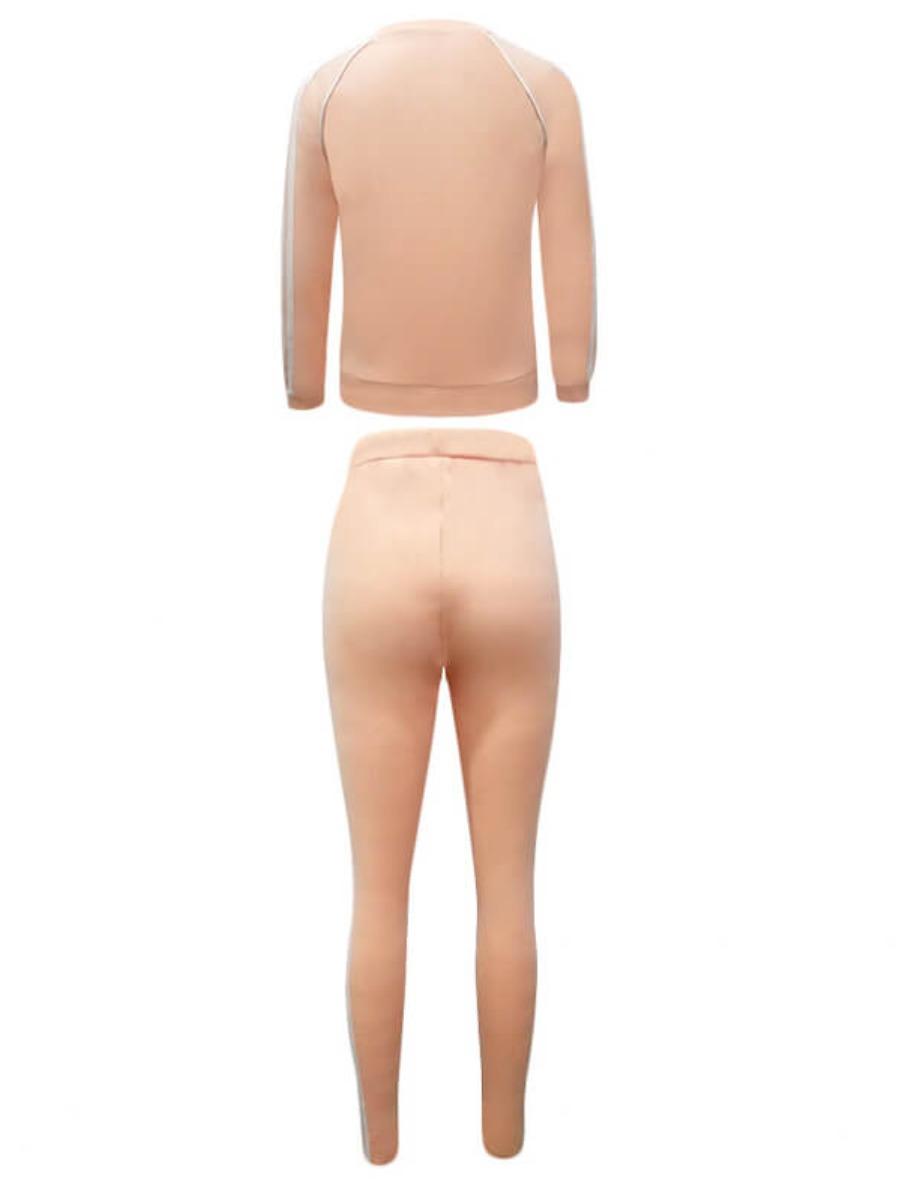 Lovely Striped Kangaroo Pocket Pants Set