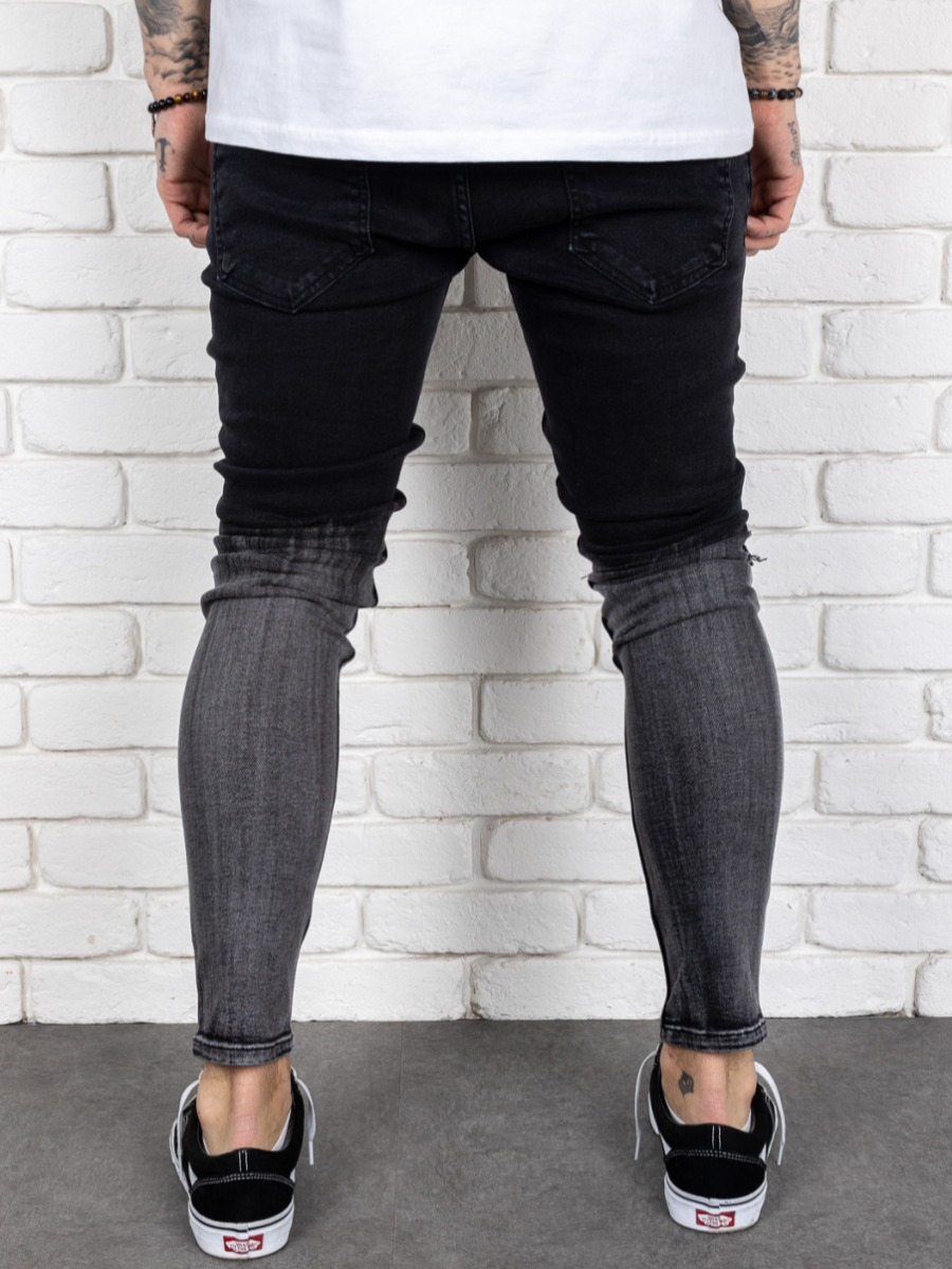 LW Men Ripped Patchwork Jeans