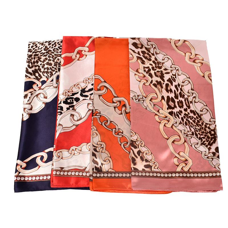 LW BASICS Leopard Chain Print Bandana Headband
