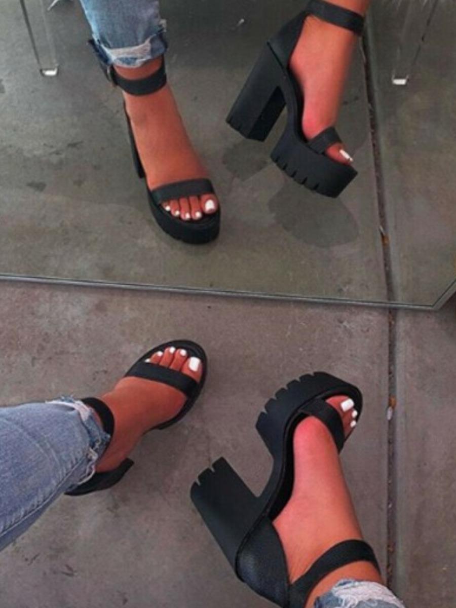 LW Single Strap Buckle Design Heels