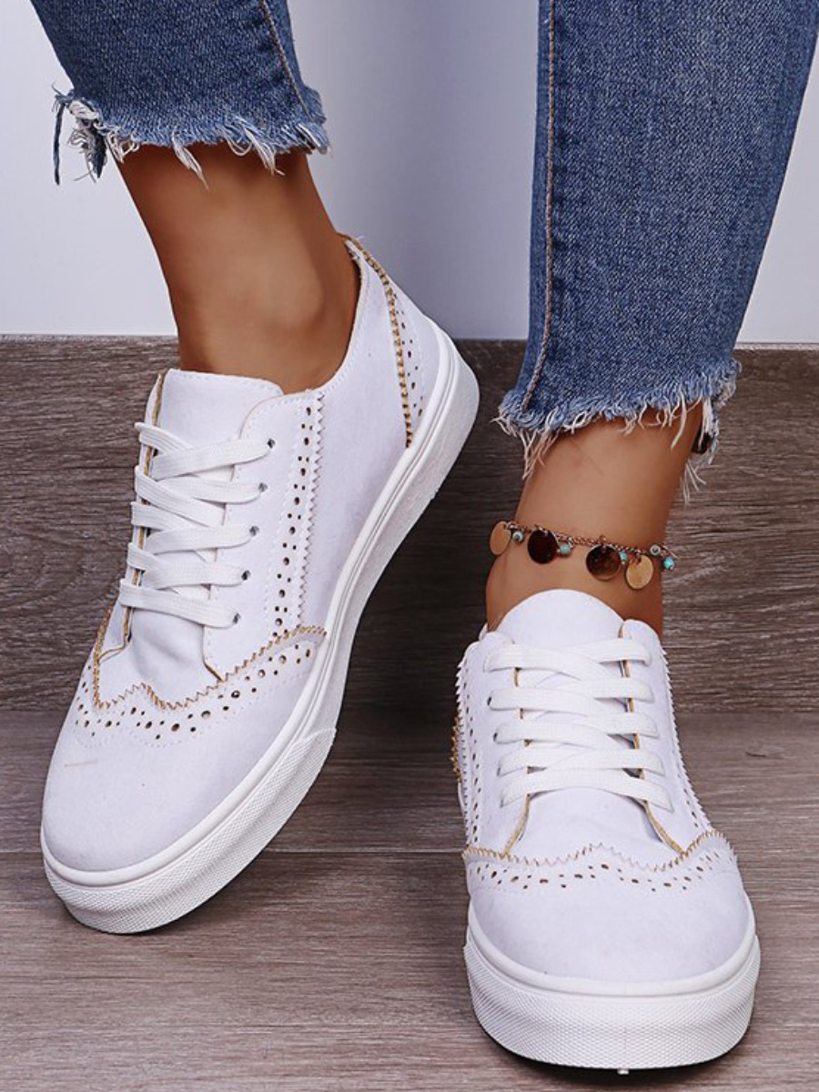 LW Round-toe Hollow-out Flats