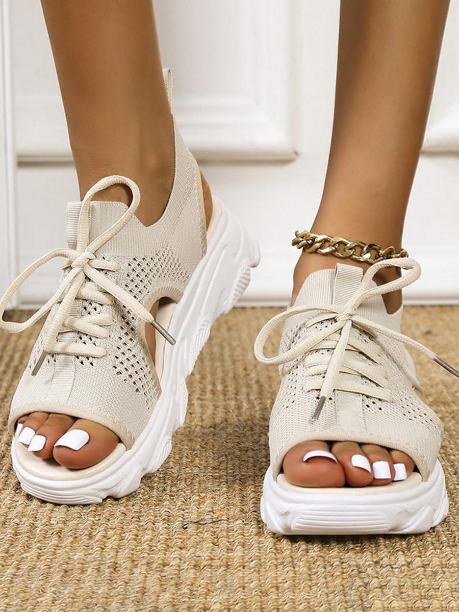 LW Hollow-out Platform Shoes
