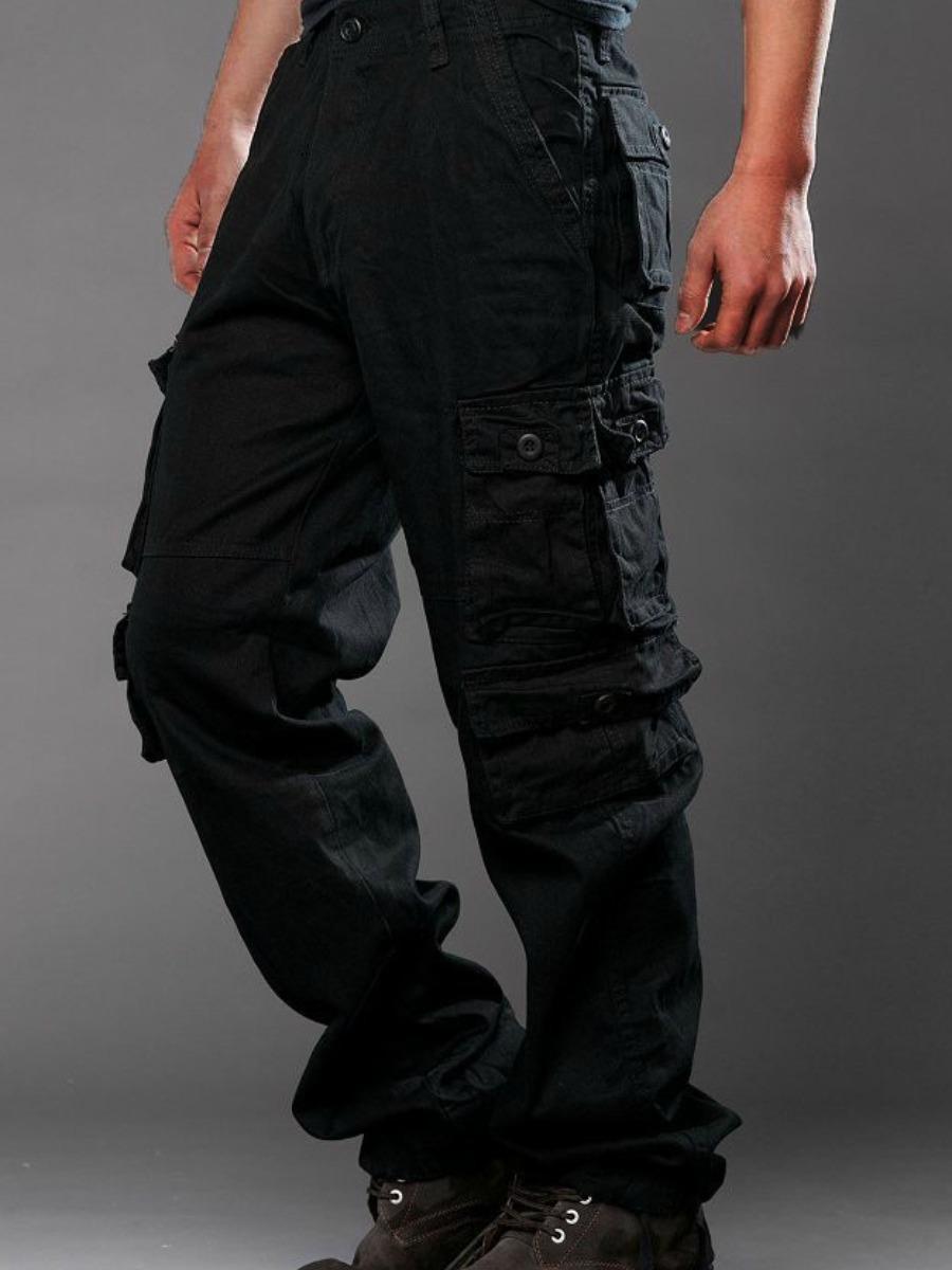 LW COTTON Men Mid Waist Side Pocket Pants