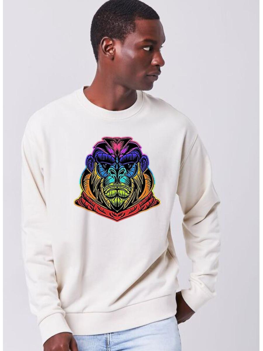 Lovely Round Neck Cartoon Print Sweatshirt