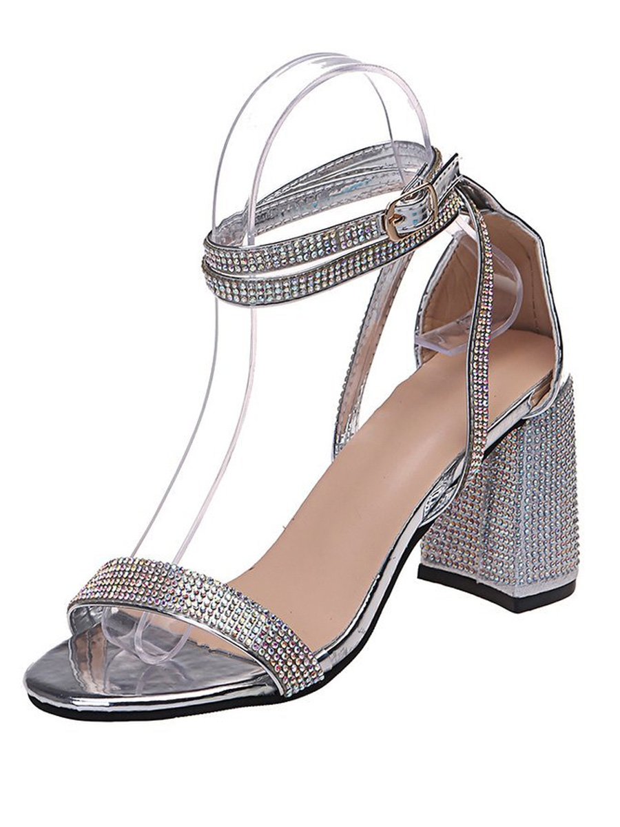 Lovely Crystal Strappy Heels