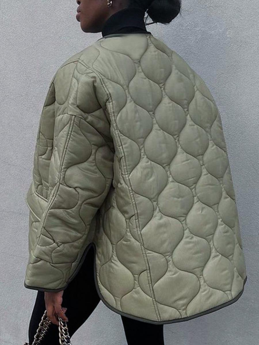 LW Zipper Pocket Design Short Parka