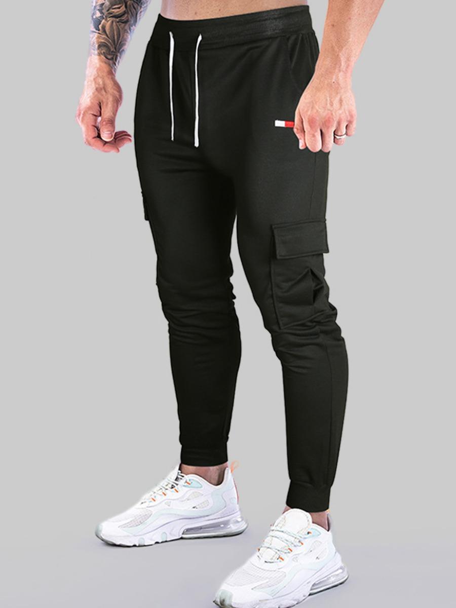 LW COTTON Men Drawstring Side Pocket Pants