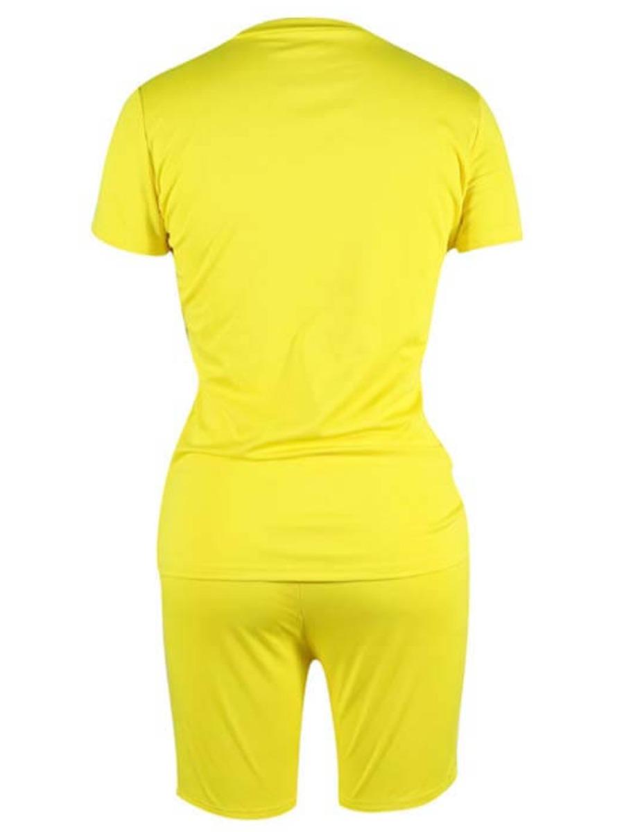 LW BASICS Round Neck Regular Fit Shorts Set