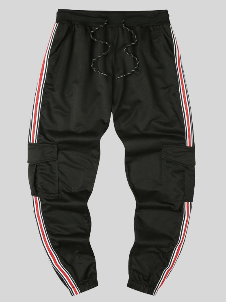 LW COTTON Men Striped Side Pocket Pants